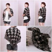 Wholesale Mink Fur Poncho Fur Cape Fur Scarves Mink Fur Scarf Mink Fur Wraps Fur Shawl Mink Knittde Poncho from china suppliers