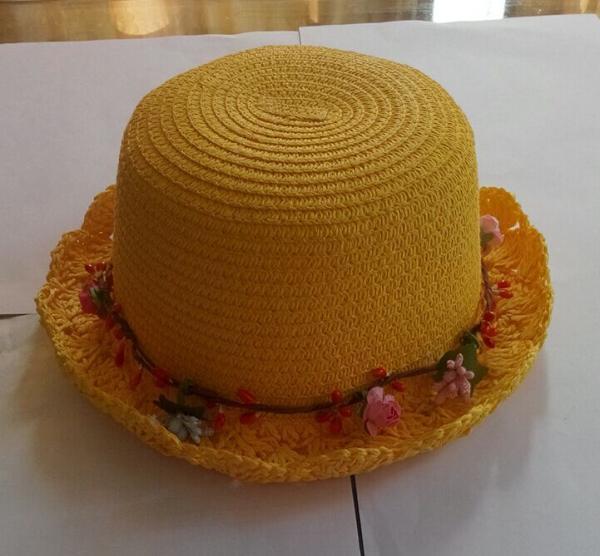 Hot fashion sun hat small brim sun hat yellow beach hat strawhats