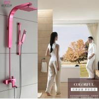 Wholesale Great Space Aluminum Bathroom Shower Sets Rose Red Color OEM Factory from china suppliers