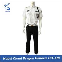 Quality Men Security Guard Uniform Full Set For Hotel / Airport / Station Protection , 2 Pockets for sale