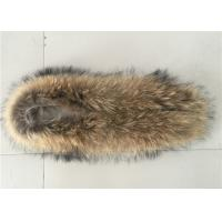 Wholesale Large Detachable Raccoon Hood Trim , Natural Color Overcoat Fur Collar  from china suppliers
