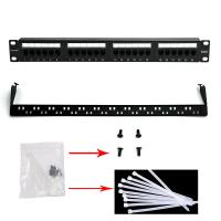Wholesale WONTERM Unshielded 19'' 24 Port Cat6 Patch Panel ABS-UL-94V0 from china suppliers