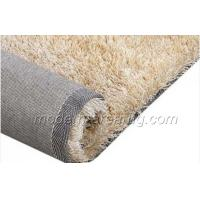 Wholesale Custom Polyester Silky Shaggy Rug, Modern Milky White Floor Rugs For Living Room from china suppliers