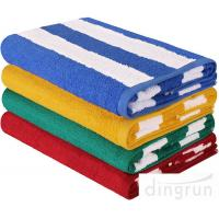 "Wholesale Stripe Cotton Bath Towels Plain Woven 30 "" X 60 "" High Absorbency For Swimming from china suppliers"