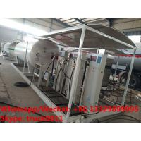 Wholesale Factory sale good price 15CBM mobile skid lpg gas refilling station with 1-2 electronic scales for Nigerian market from china suppliers