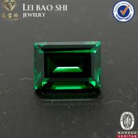Wholesale AAA/AAAAA Grade(Korean machine cut) Nano Green Emerald Cut Synthetic Diamond from china suppliers