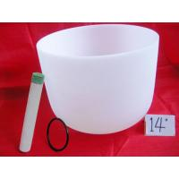 Wholesale Quartz Crystal Singing Bowl for therapy meditation from china suppliers