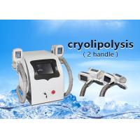 Wholesale 2 Handle portable Cryolipolysis slmming machine , fat freeze machine -2℃~-20℃ freezing temperature from china suppliers