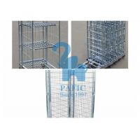Wholesale Electroplating Steel Nestable Roll Containers , Four Wheels Security Storage Cage from china suppliers