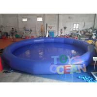 Wholesale Big Outdoor PVC Round Inflatable Swimming Pool Blue Water Park Equipment from china suppliers