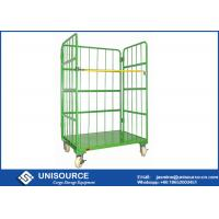 Wholesale Roll Cage Trolley For Material Handling , Logistic Steel Pallet Containers from china suppliers