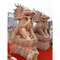 Wholesale Stone carving Kylin for garden decorationd from china suppliers
