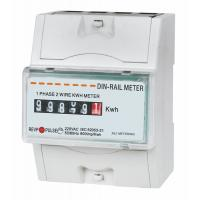Wholesale Intelligent Small DIN Rail KWH meter , digital electricity meter 1 phase 2 wire from china suppliers