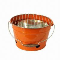 Wholesale Charcoal Barbecue Grill with 0.7/0.5mm Steel Plate Thickness, Measures Ø35.5cm from china suppliers