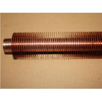 Quality Heat Exchanging Copper Spiral Finned Tube with Extruding Process for sale