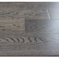 Buy cheap Russian White Oak Engineered Wood Flooring, dark gray color with smooth surface from wholesalers