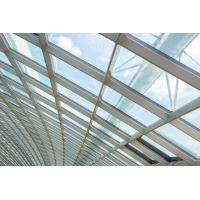 Buy cheap 3.0MM Building Glass Curtain Wall Residential Tightness Powder Coating from wholesalers