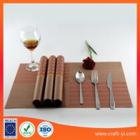 Wholesale DIY plastic dining placemats textilene table mat in square 45*30 cm from china suppliers