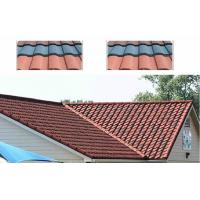 Wholesale Steel Stone Coated Double Roman Roof Tiles , Wood grain / Grid roofing tiles from china suppliers