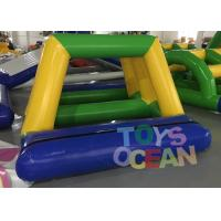 Wholesale 0.9MM PVC Vinyl Tarpaulin Inflatable Water Game Bridge Shape For Water Park from china suppliers