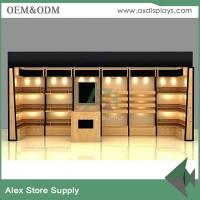 Wholesale Women clothes display showcase , wood display shelf ,clothes shop furniture design with LED light from china suppliers