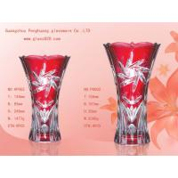 Wholesale promotional spray printing and frosty Flower art Personalized Glass Vase / clear Vases from china suppliers