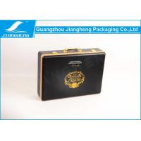 Wholesale Best Monthly Subscription Leather Gift Box Black / Gold Logo Suitcase Packaging Box from china suppliers