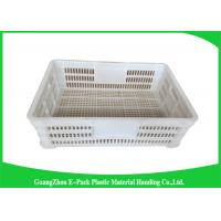 Wholesale Economic Plastic Storage Food Crates / Stackable Storage Containers from china suppliers