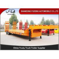 Wholesale Strong 25 Ton - 35 Ton Low Bed Semi Trailer , Two Axles 8 Wheel Trailer from china suppliers
