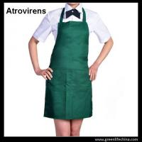 Wholesale Atrovirens dark green fashion color advertising cheap good apron with 2pcs front pockets from china suppliers