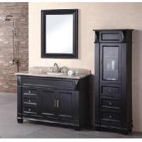 Wholesale Traditional Wooden Bathroom Vanity in Espresso Color from china suppliers