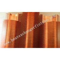 Quality Extruded High Copper Radiator Finned Tubes With 10.5mm Fin Height for sale