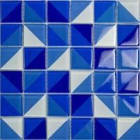 Wholesale Kitchen/Bathroom Wall Tiles, Crystal Glass Mosaic, Double Color in One Tile, Easy to Clean from china suppliers