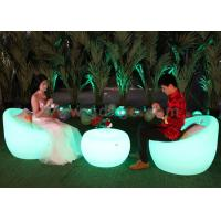 Wholesale Plastic LED Outdoor Bar Chairs , SMD 5050 RGB Leisure Plastic Chairs from china suppliers