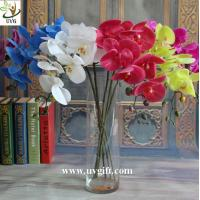 Wholesale UVG Factory direct PU orchids artificial flower arrangements with vase for wedding bouquet from china suppliers