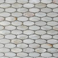 Wholesale Handmade Beautiful Sea shell Wall Mosaic Freshwater Sea Shell Mosaic Oval Shape 15x28mm from china suppliers