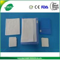 Wholesale sterile SMS neuro medical use surgical drape set craniotomy drape pack from china suppliers