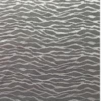 Wholesale White Nylon light Lace Fabric stripes for bedding and home textile from china suppliers