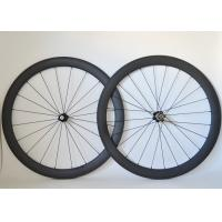 Wholesale T700 Road Bike Carbon Cycling Wheels 20 / 24 Spoke Holes And Basalt Brake Surface from china suppliers