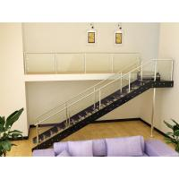 Wholesale Commercial Tempered Glass Straight Staircases , Stainless Steel Beam from china suppliers