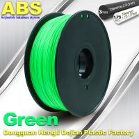 Wholesale Customized Green1.75mm / 3.0mm 1.0KgG / roll ABS 3D Printer Filament from china suppliers