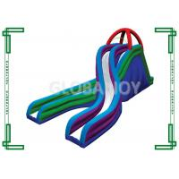 Wholesale Giant Inflatable Backyard Water Slides With Double Lane / Inflatable Slide For Pool from china suppliers