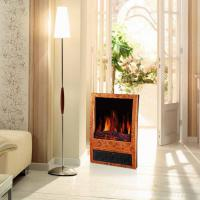 Wholesale log burning LED flame effect electric fireplace heater stoves NDY-20D portable wooden finish climat room/indoor heater from china suppliers