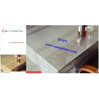 PVC Table Cloth --RNPT Crystal lace table cloth ---TC255-T003 gold table cloth