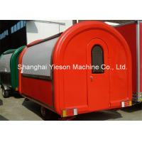 Wholesale 2M Wide Fiber Glass Hot Dog Vending Van Red Color With ice Maker from china suppliers