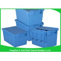 Wholesale 45L Plastic Box With Hinged Lid Rentable Moving , Large Plastic Storage Bins For Packaging from china suppliers