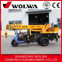 Buy cheap cheap 3T tricycle truck crane from wolwa drect factory for sale from wholesalers