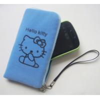 Wholesale Mobilephone bag with zipper, flocking mobilephone bag from china suppliers