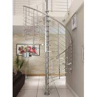 Wholesale Modern customized tempered glass spiral staircase stainless steel from china suppliers