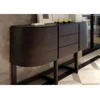 Wholesale Contemporary Black Solid Wood Oak Console Table With Drawers Asian Style from china suppliers